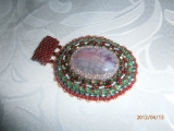 Wisior agat smoczy red beading